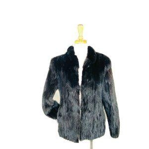 Genuine Saga Mink Fur Coat. Saga Mink Black Vintag